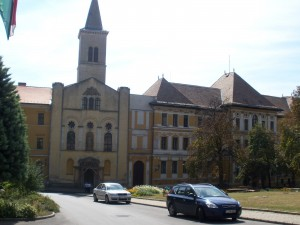 The school on our street.